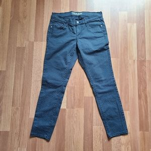 Old navy rockstar polka-dot navy skinny pants